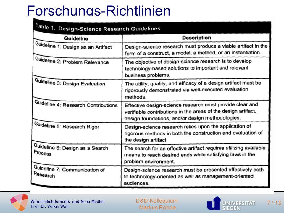 Forschungs-Richtlinien
