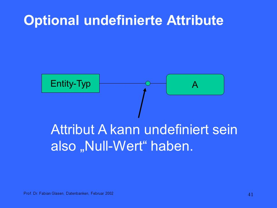 Optional undefinierte Attribute