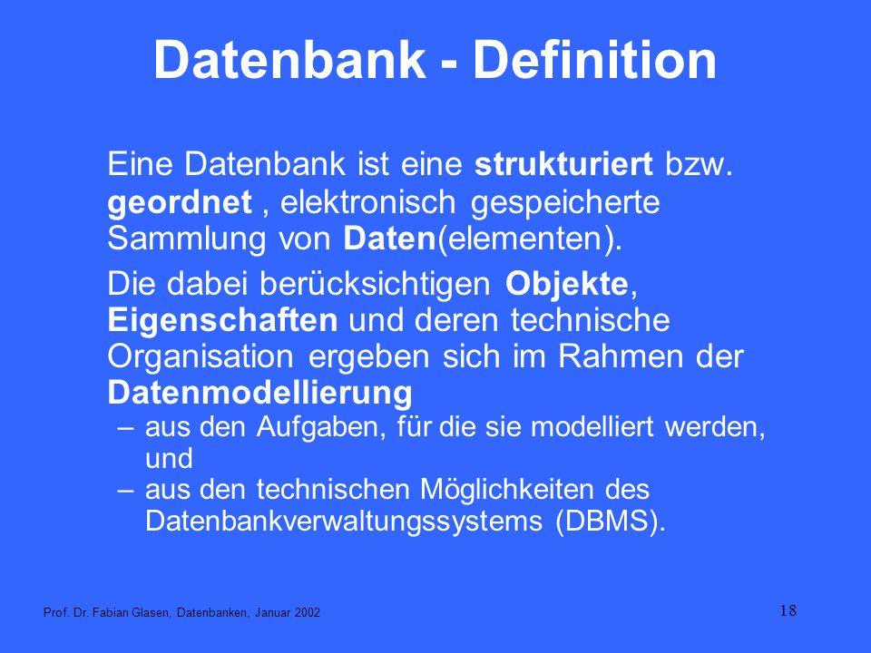 Datenbank - Definition