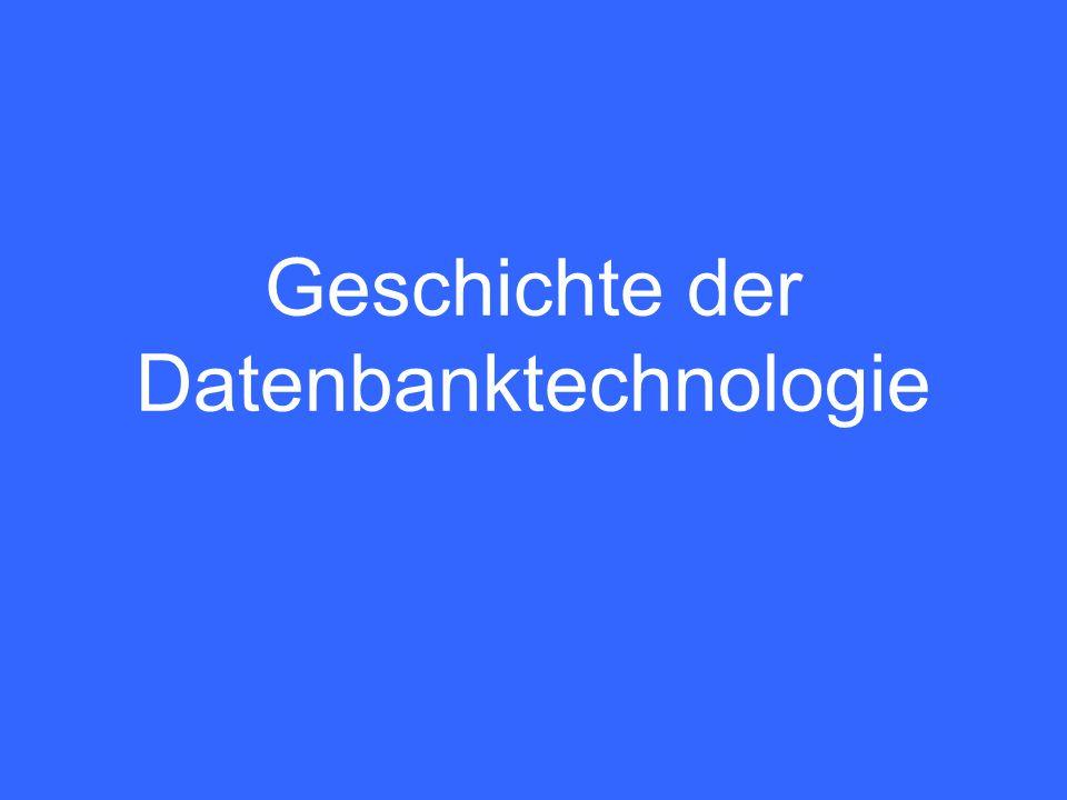 Geschichte der Datenbanktechnologie