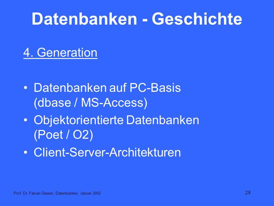 Datenbanken - Geschichte