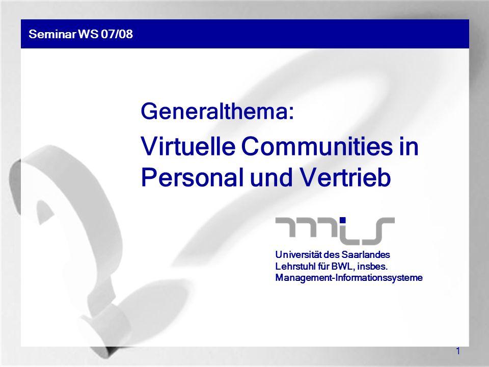 Virtuelle Communities in Personal und Vertrieb