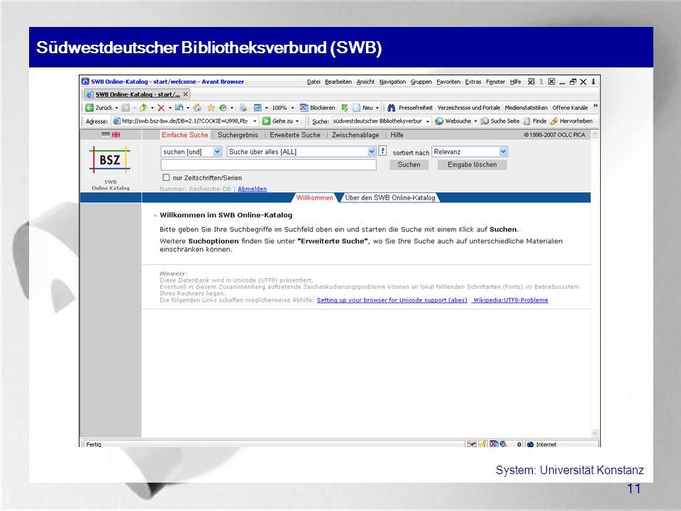 System: Universität Konstanz