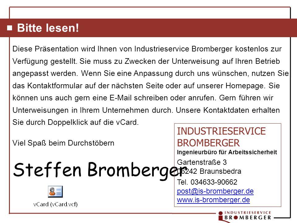 Steffen Bromberger Bitte lesen!