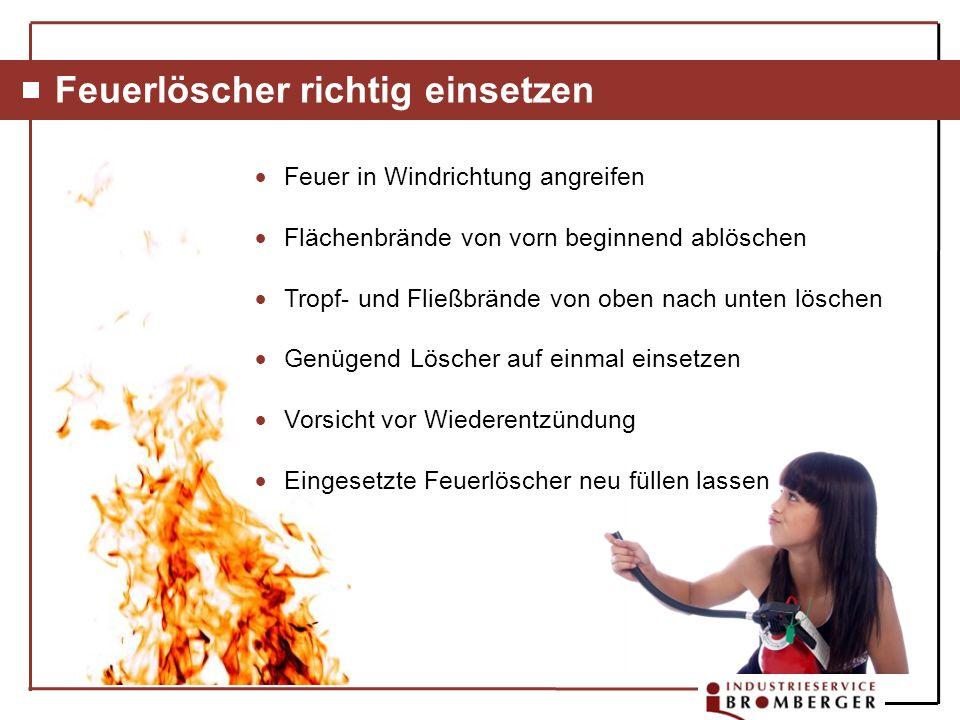 Feuerlöscher richtig einsetzen