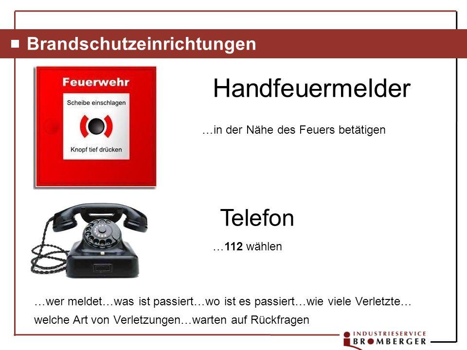 Handfeuermelder Telefon Brandschutzeinrichtungen