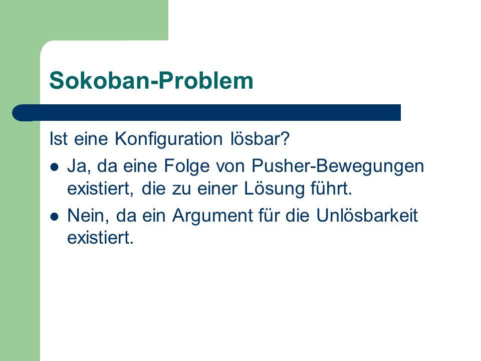 Sokoban-Problem Ist eine Konfiguration lösbar