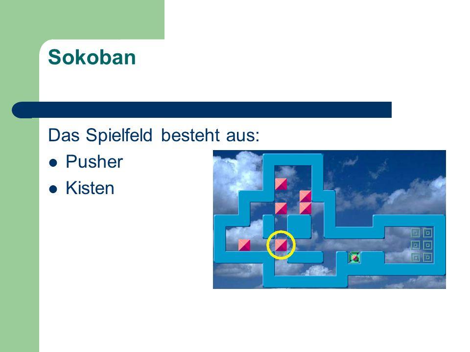 Sokoban Das Spielfeld besteht aus: Pusher Kisten