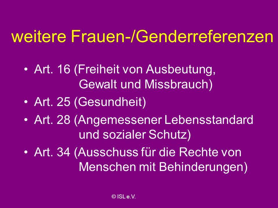 weitere Frauen-/Genderreferenzen
