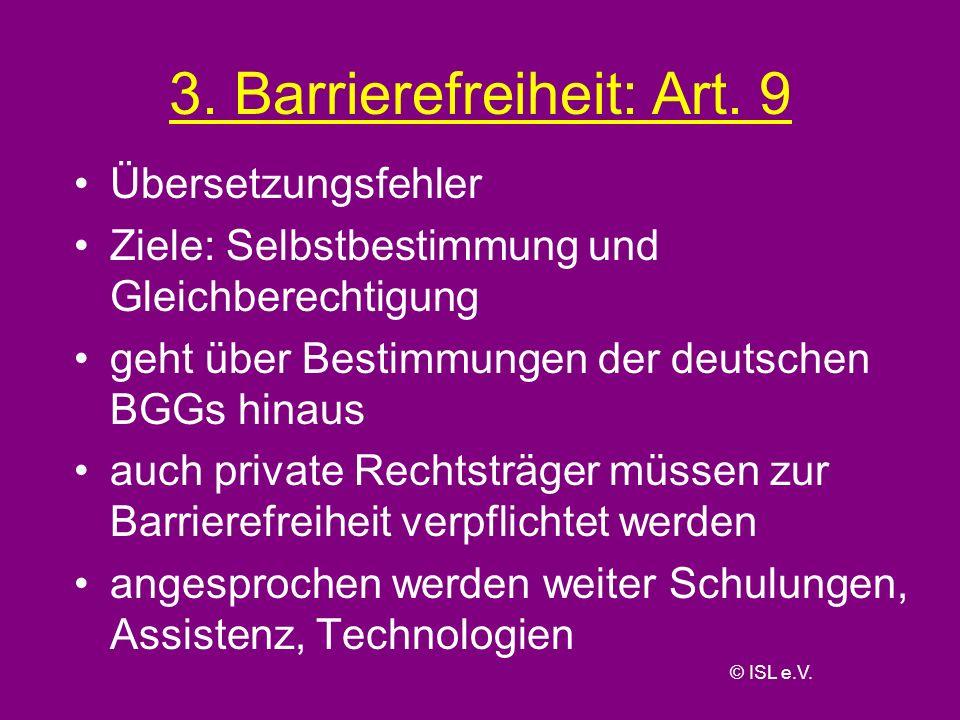 3. Barrierefreiheit: Art. 9
