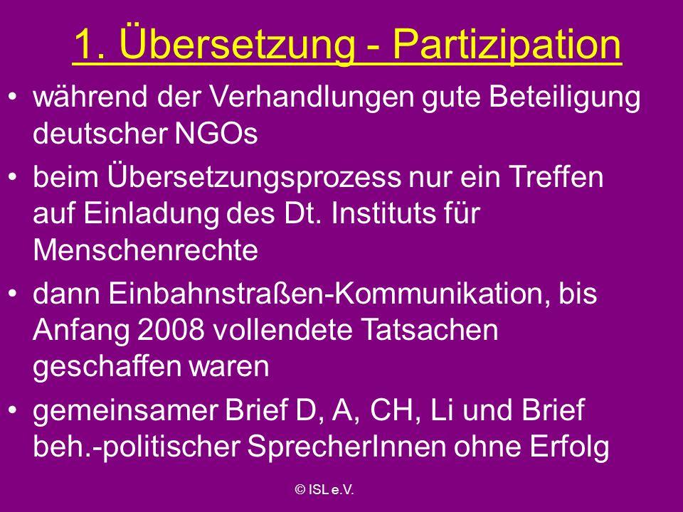 1. Übersetzung - Partizipation