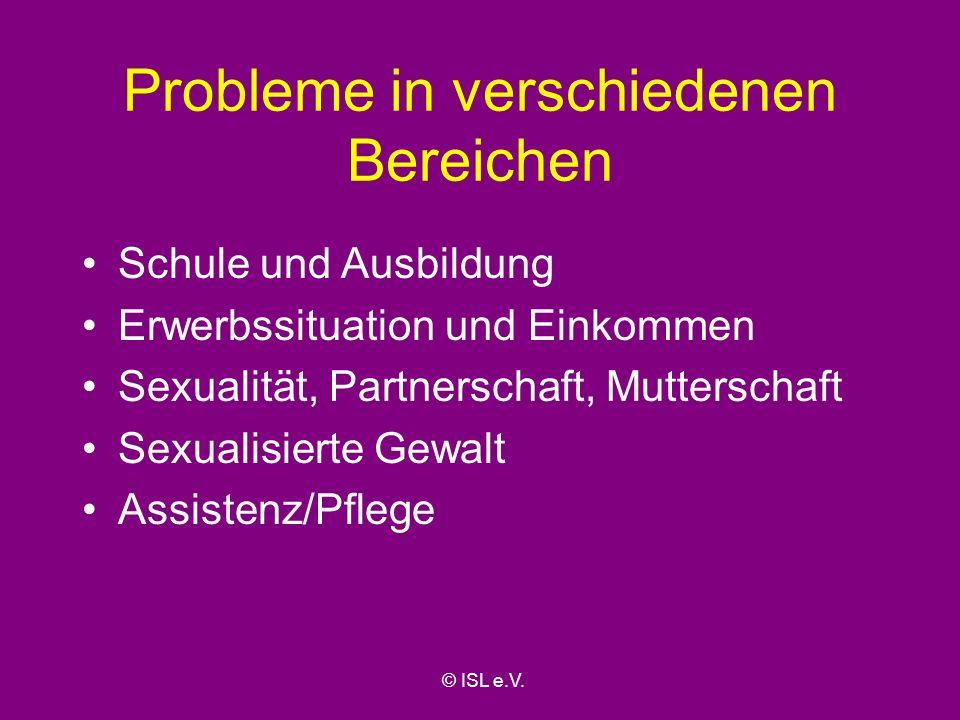 Probleme in verschiedenen Bereichen