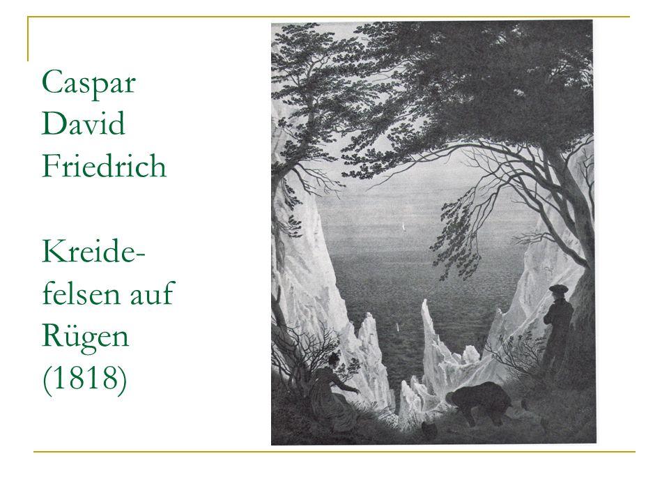 Caspar David Friedrich Kreide-felsen auf Rügen (1818)