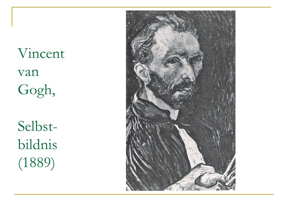 Vincent van Gogh, Selbst-bildnis (1889)