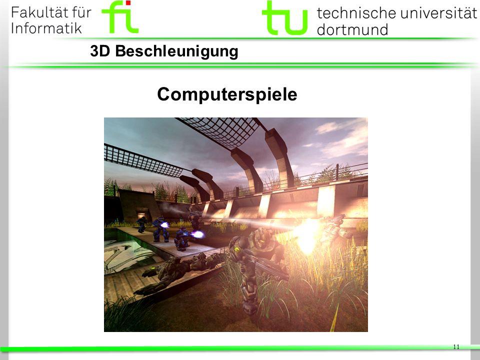 3D Beschleunigung Computerspiele