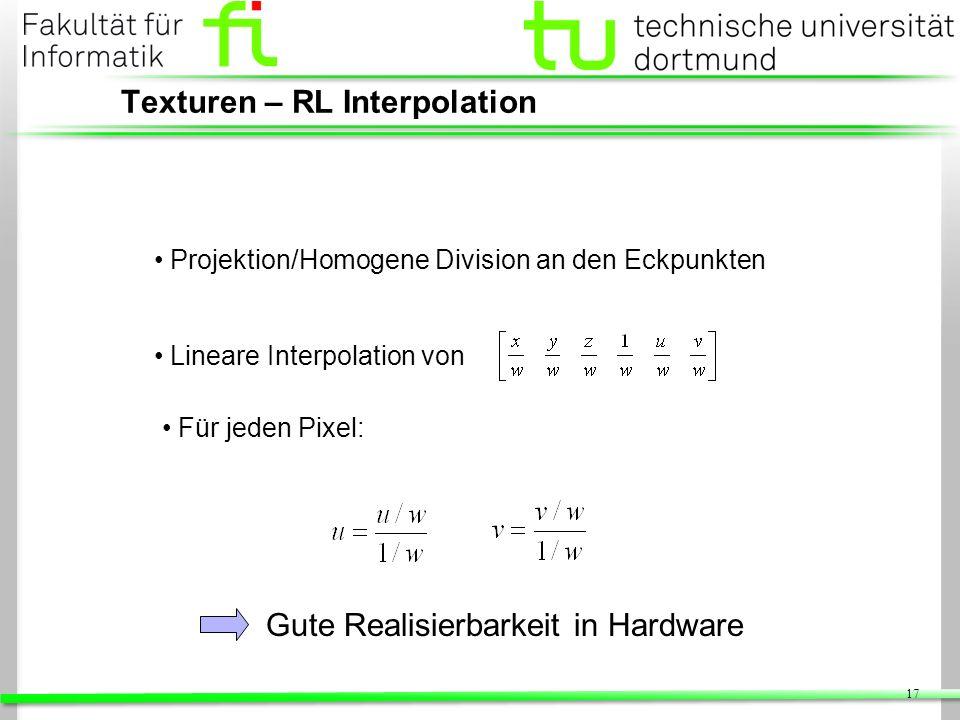 Texturen – RL Interpolation