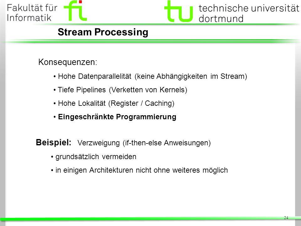 Stream Processing Konsequenzen: