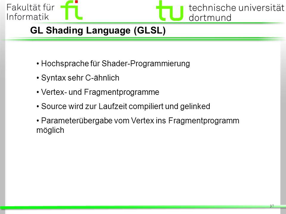 GL Shading Language (GLSL)
