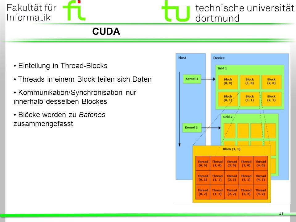 CUDA Einteilung in Thread-Blocks