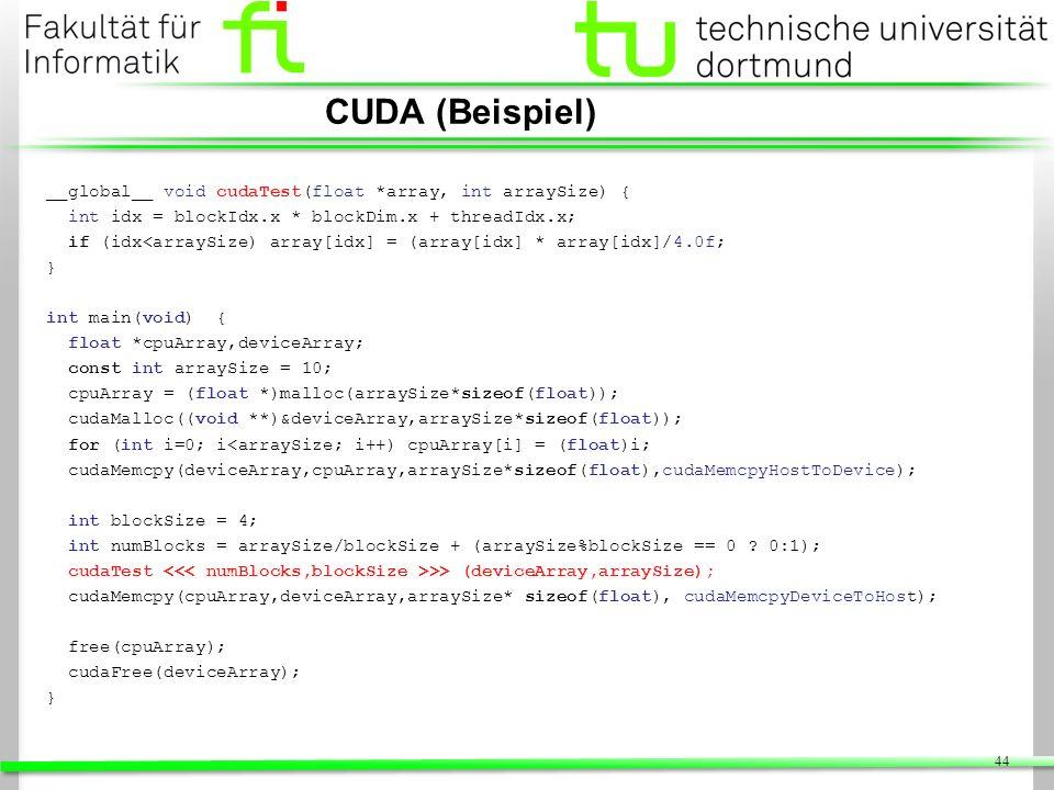 CUDA (Beispiel)