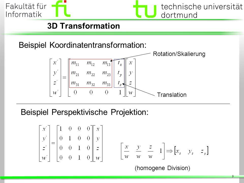Beispiel Koordinatentransformation: