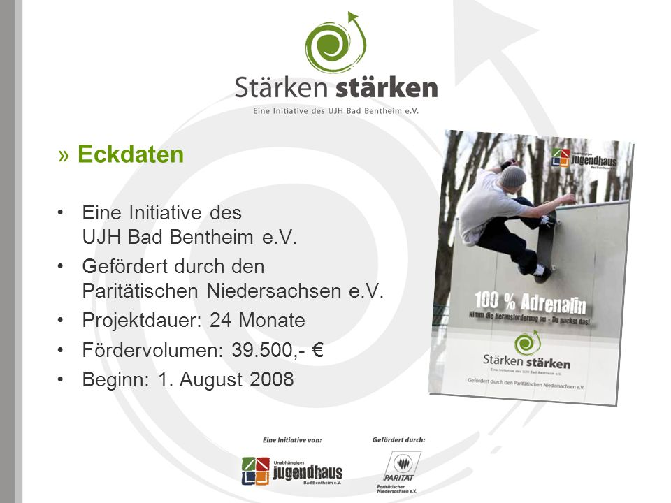 » Eckdaten Eine Initiative des UJH Bad Bentheim e.V.