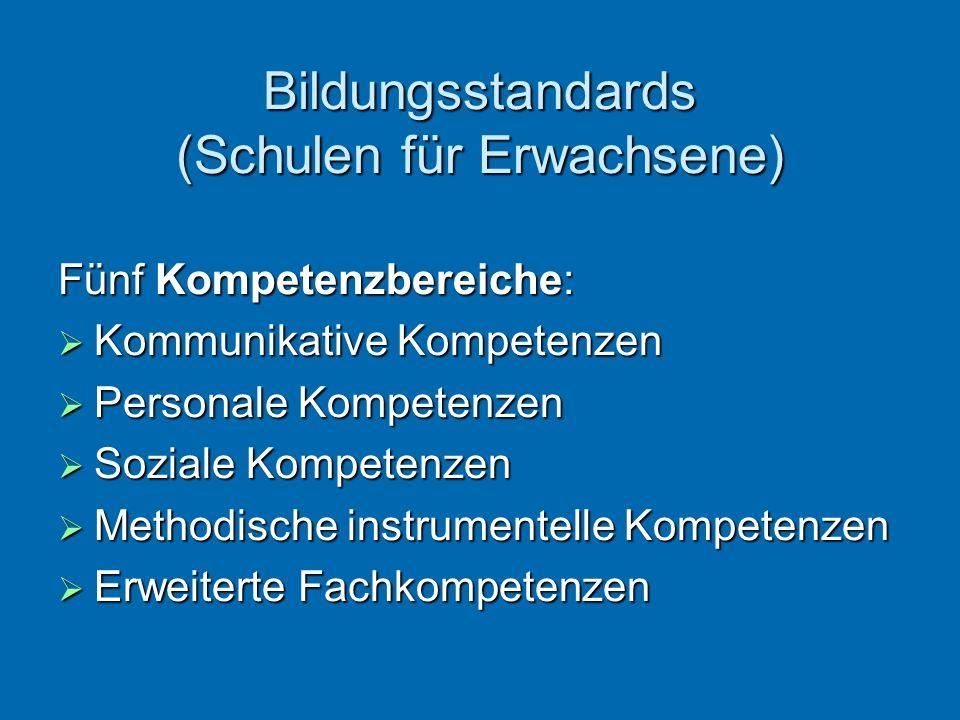 Bildungsstandards (Schulen für Erwachsene)