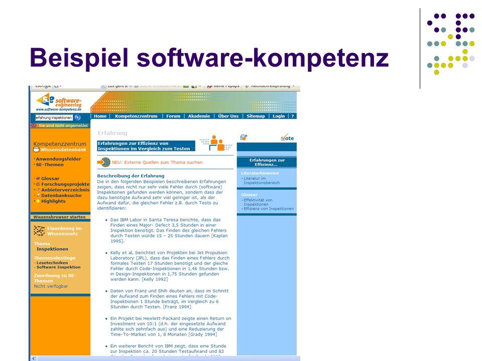 Beispiel software-kompetenz