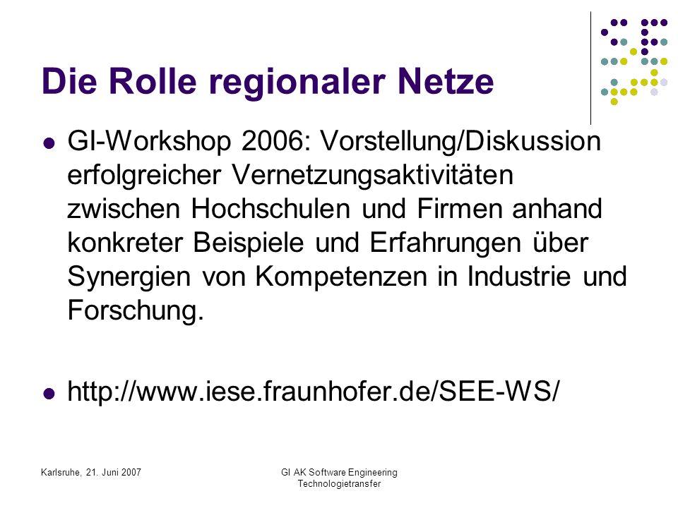 Die Rolle regionaler Netze