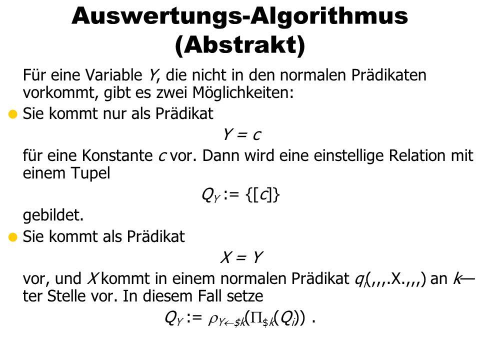 Auswertungs-Algorithmus (Abstrakt)