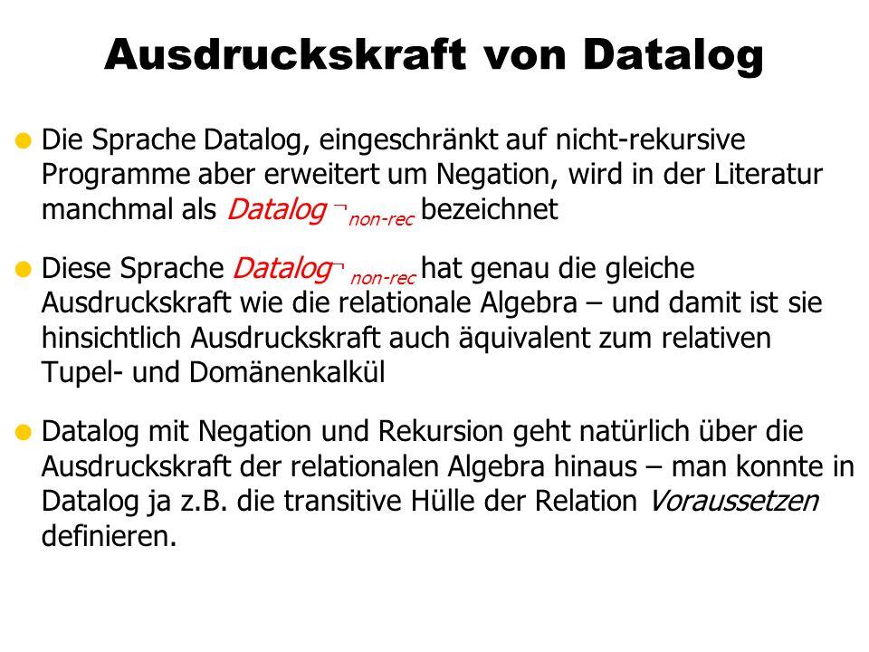 Ausdruckskraft von Datalog