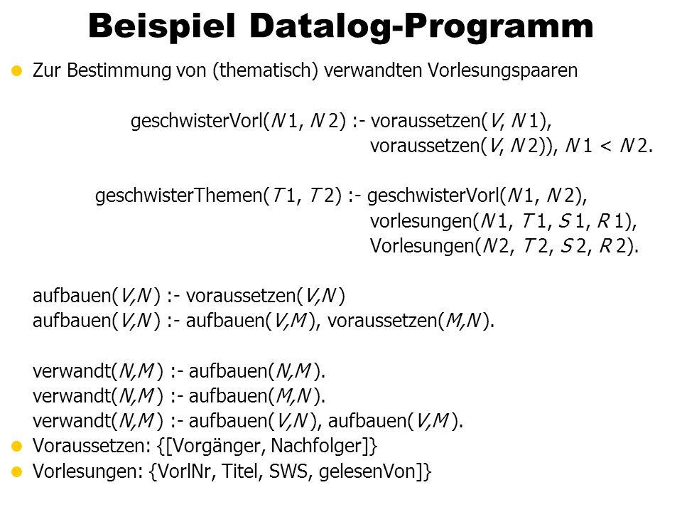 Beispiel Datalog-Programm