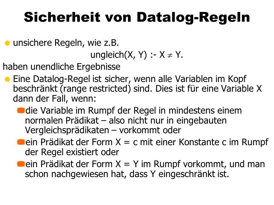 Sicherheit von Datalog-Regeln