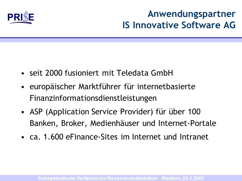 Anwendungspartner IS Innovative Software AG
