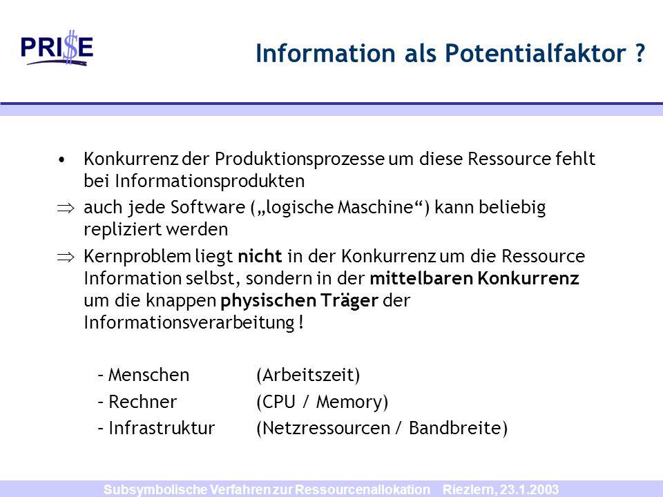 Information als Potentialfaktor