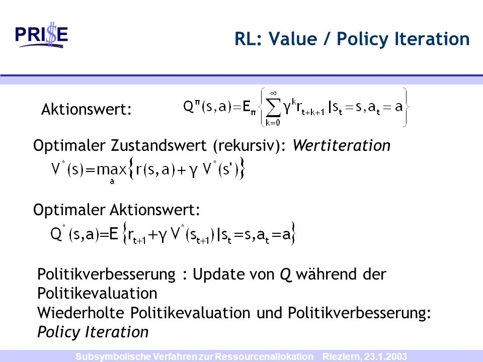RL: Value / Policy Iteration
