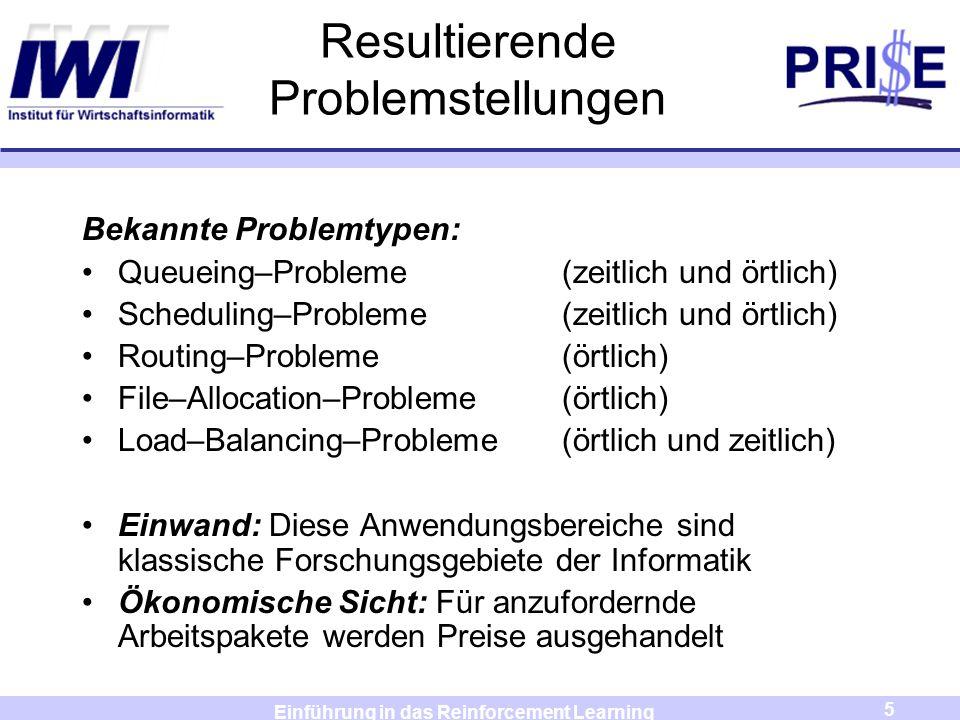 Resultierende Problemstellungen
