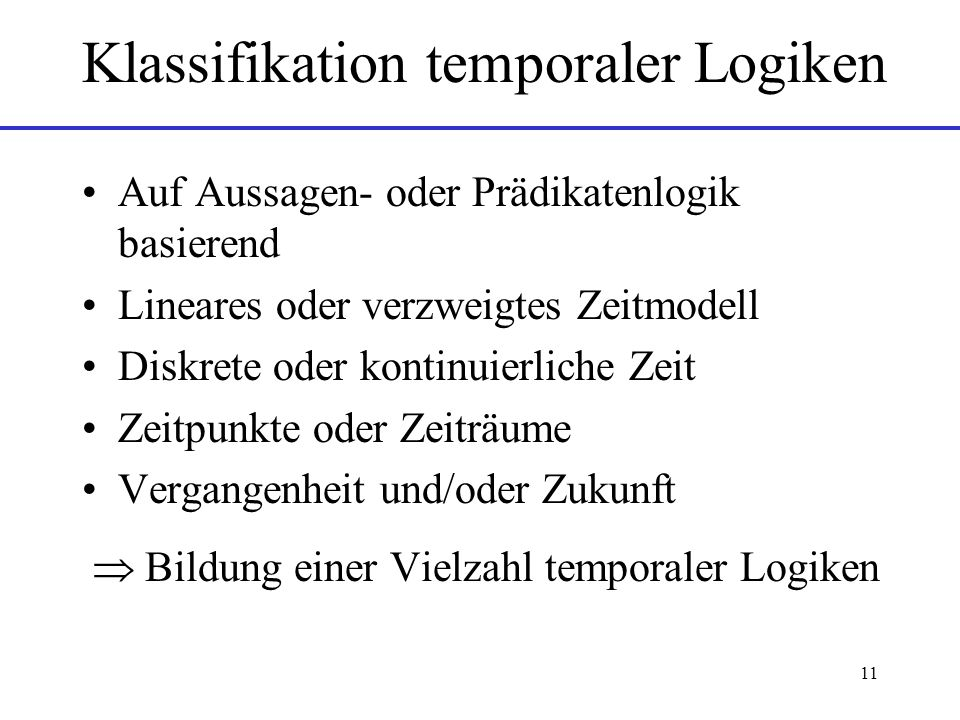 Klassifikation temporaler Logiken