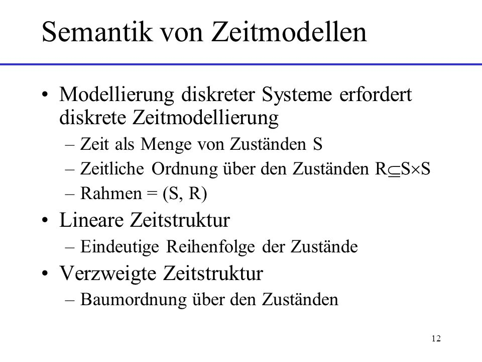 Semantik von Zeitmodellen