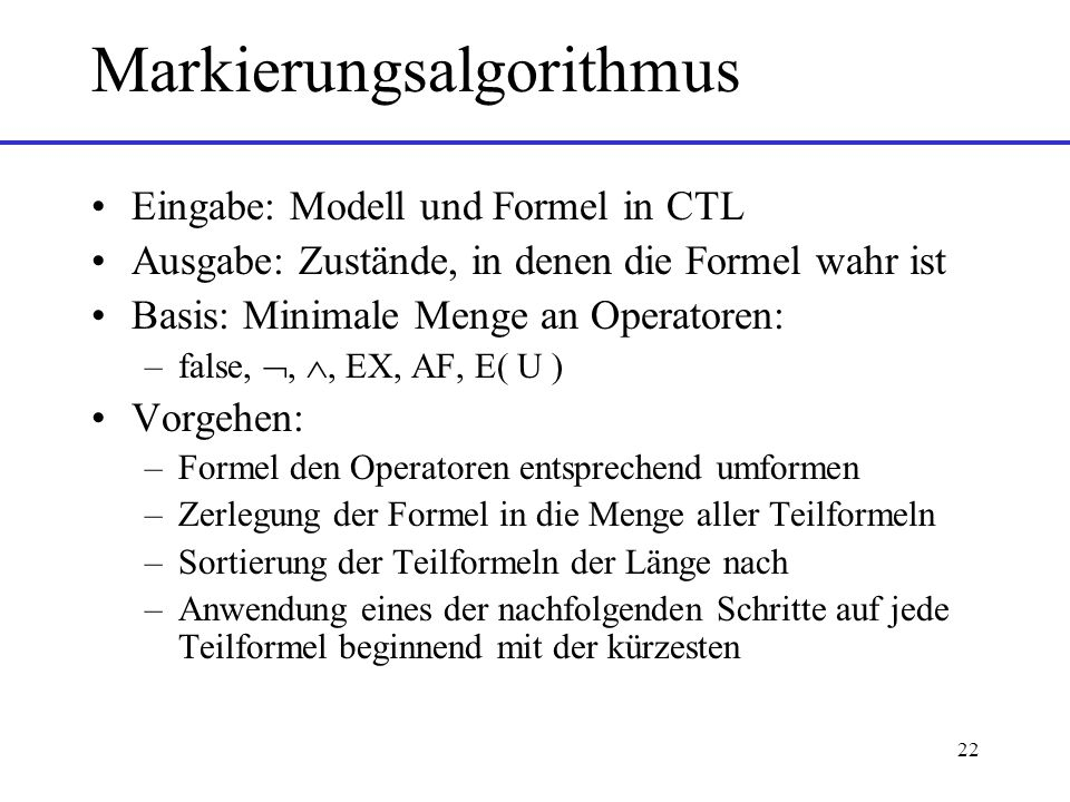 Markierungsalgorithmus