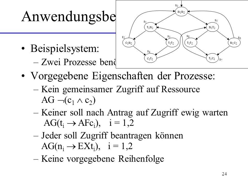 Anwendungsbeispiel Beispielsystem: