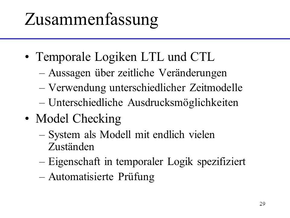 Zusammenfassung Temporale Logiken LTL und CTL Model Checking