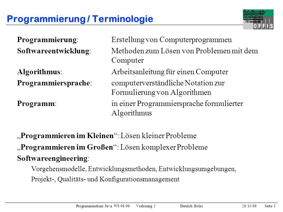 Programmierung / Terminologie