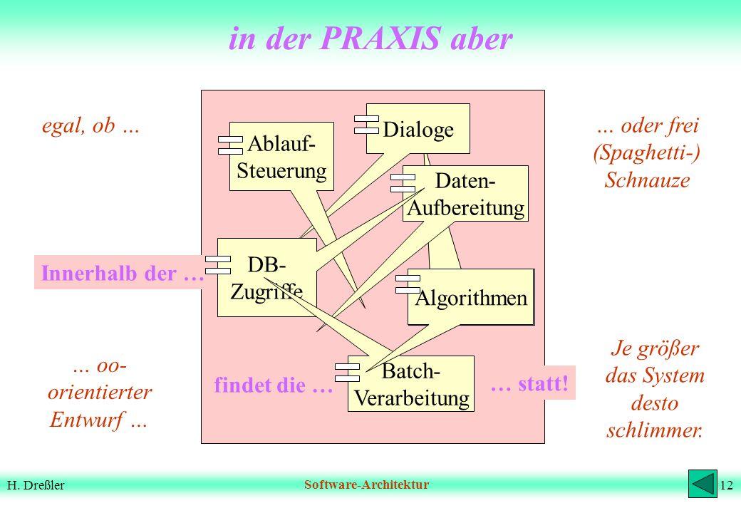 in der PRAXIS aber Algorithmen Dialoge Ablauf- Steuerung Daten-