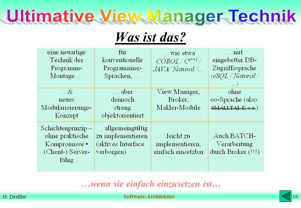 Ultimative View Manager Technik …wenn sie einfach einzusetzen ist…