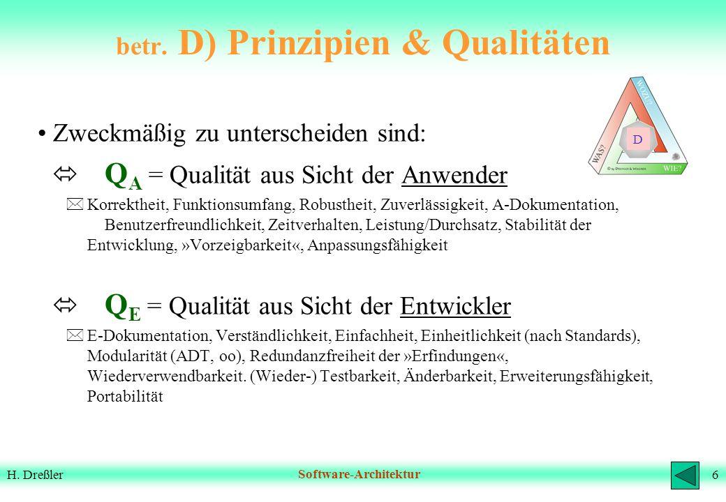 betr. D) Prinzipien & Qualitäten