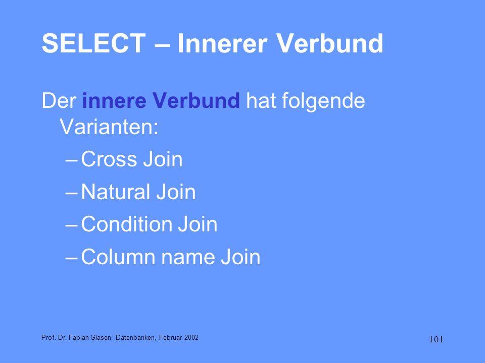 SELECT – Innerer Verbund
