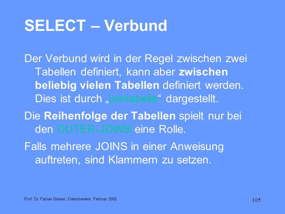 SELECT – Verbund