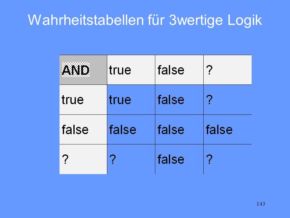 Wahrheitstabellen für 3wertige Logik