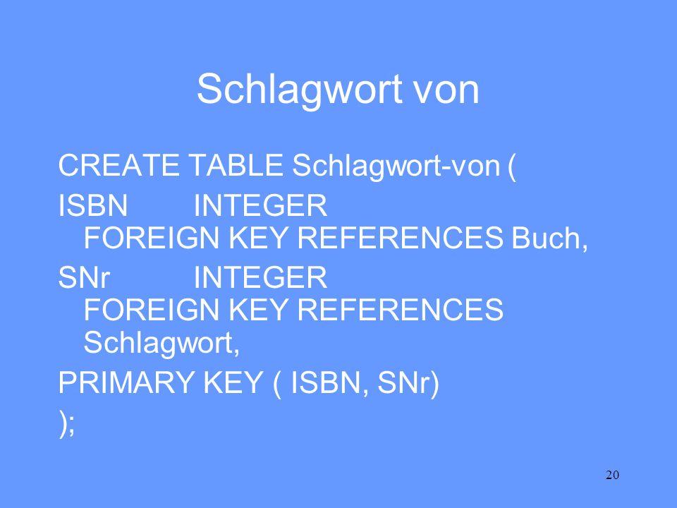 Schlagwort von CREATE TABLE Schlagwort-von (